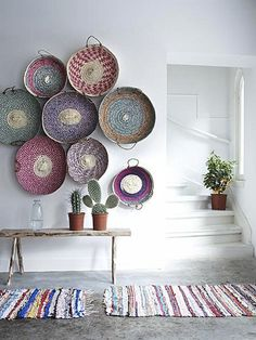 Design Trend: Baskets As Wall Decor by Jeanine Hays on @HGTV. Image via VT Wonen.