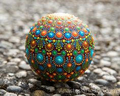 Mandala stones hand painted