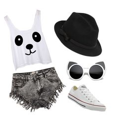 """""""Untitled #26"""" by aneela-57 ❤ liked on Polyvore featuring Boohoo, RED Valentino and Converse"""