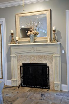 Chalk paint meets Milk paint ....Fireplace mantle | For the Home ...