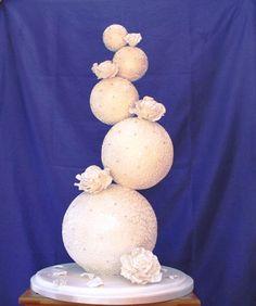 Diamante Sphere Wedding Cake