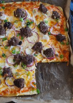 Pizza med bunn av kikertmel - Sukkerfri Hverdag Pepperoni, Vegetable Pizza, Nom Nom, Food And Drink, Low Carb, Healthy Recipes, Healthy Food, Keto, Pasta