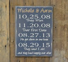 Beach Wedding Sign, In High Tide Or Low Tide I'll Be By Your Side Personalized Beach Wedding Decor, Beach Home Decor, Nautical Wall Art Beach Wedding Signs, Wood Wedding Signs, Beach Signs, Engagement Signs, Wedding Engagement, Wedding Anniversary Gifts, Gift Wedding, Wedding Ideas, Important Dates Sign