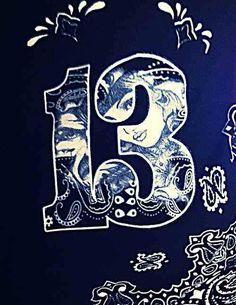Sur 13 Chicano Lettering, Graffiti Lettering, Cholo Art, Chicano Art, Number 13 Tattoos, Chicano Tattoos Sleeve, Estilo Cholo, Cholo Style, Latino Art