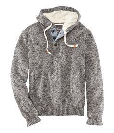 Escapism Men S Hoodie Aztec Print Hooded Sweatshirt Gray