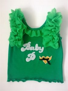 Handmade Baby Clothes 3d Bunting Design With Name On Navy Bonds T