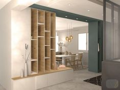 Une entrée colorée, chaleureuse et fonctionnelle Living Room Partition Design, Room Partition Designs, Living Room Divider, Home Living Room, Room Interior, Interior Design Living Room, Living Room Designs, Room Deviders, Decorative Room Dividers