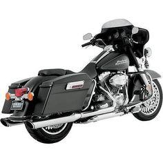 Vance & Hines Twin Slash Round Slip-On Mufflers Chrome Harley FLTRU 11-13