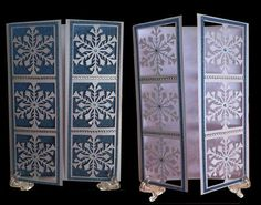 Frozen Snowflake Christmas panelled Gatefold Card on Craftsuprint - Add To Basket!