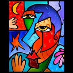 modern abstract art faces - Google Search