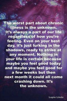 The unknown. Rheumatoid Arthritis-Sjogren's-autoimmune illness-chronic pain-chronic kidney disease-Meniere's Disease-Autoimmune Ear Disease