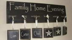 Customized Family Home Evening Board by piccadillypeddler on Etsy