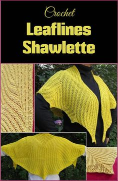Crochet Leaflines Shawlette -100 Free Crochet Shawl Patterns - Free Crochet Patterns - Page 2 of 19 - DIY & Crafts