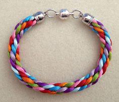 8 colour kumihimo bracelet by Jewellery by Janine https://www.facebook.com/JewelleryByJanine