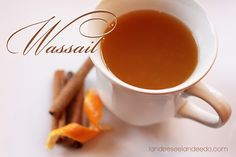 Wassail Recipe - a family tradition and favorite drink recipe - delicious twist on hot cider. So yummy!