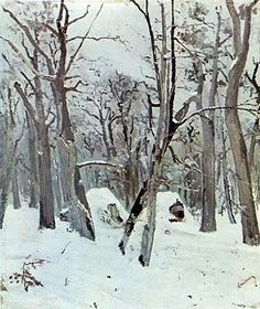 Fișier:Ion Andreescu - Woods in Winter. Snow Art, Monet, Romania, Artist, Outdoor, Beautiful, Woods, Chill, Europe