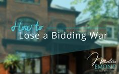 If you're buying a property in Toronto, chances are you've lost in a bidding war at least once, if not more. Why? In short, it's competitive, but you also could be making these common mistakes that people losing out in bidding ways typically make: http://www.melissaemond.com/lose-bidding-war/