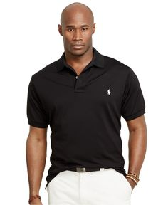 Polo Ralph Lauren Big and Tall Performance Mesh Polo Shirt - Polos - Men -  Macy\u0027s