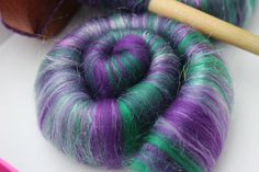 Sweet Rolls Rolags hand blended for spinning 1 by theWoolyWitch