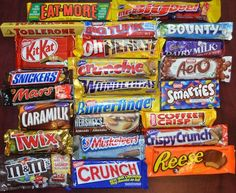 Canada Chocolate-Caramilk-Big Turk-Coffee Crisp-Smarties-Eat-More-Mars-Maltesers Canadian Chocolate Bars, Best Chocolate Bars, Chocolate Lovers, Toblerone, Snack Recipes, Snacks, Sweet Recipes, Crunches, Confectionery
