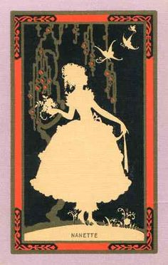 "Swap Playing Card Vintage NN ""Nanette"" ART NOUVEAU  Lady c1920s"