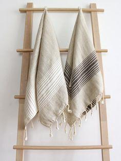 Linen Towels, Soft Towels, Dish Towels, Tea Towels, Kitchen Towel Rail, Kitchen Towels, Kitchen Sets, Kitchen Dining, Striped Towels
