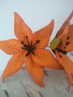 Tiger Lily Handmade Paper Flower   set of 3 by 2CLVR4UDESIGNS, $11.25