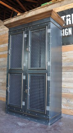 Vintage Industrial Armoire or Media Cabinet on Behance
