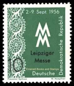 EBS-East-Germany-DDR-1956-Leipzig-Autumn-Fair-MNH-Michel-536-537 Autumn Fair, Postage Stamp Art, Lacemaking, East Germany, Poster Pictures, Bobbin Lace, Stamp Collecting, Coins, Fiber