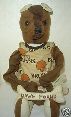 CLEVELAND BROWNS DOG POUND VINTAGE STUFFED ANIMAL DOLL