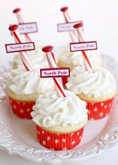 North Pole Cupcakes. christmas-baking