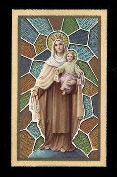 "santino-holy card""""ediz. FB serie MILANO  n.16 MADONNA DEL CARMINE"