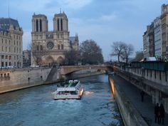 The River Seine at dusk from Saint Germaine des Pres