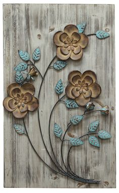 Rustic Floral Panel II Wall Décor