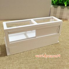 Dollhouse Miniature Wooden White Showcase Display Cabinet 1:12 Scale Model in Dolls & Bears, Dollhouse Miniatures, Furniture & Room Items | eBay