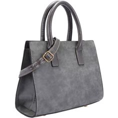 SheIn(sheinside) Grey Frosted Tote Bag ($7.54) ❤ liked on Polyvore featuring bags, handbags, tote bags, purses, purse satchel, handbags totes, tote purse, handbags purses and satchel handbags