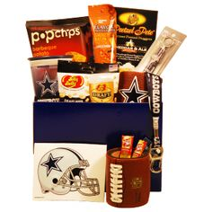 Dallas Cowboys Touchdown Gift Basket - #fathersday gifts for Dallas Cowboys fans $70.99