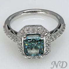 Unique Blue Diamond Engagement Ring