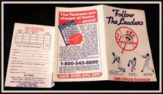 NEW YORK YANKEES 1986 YANKEE MAGAZINE BASEBALL POCKET SCHEDULE FREE SHIPPING #Pocket #NewYorkYankees #Schedule