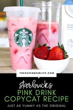 We are finally able to make one of our favorite Starbucks drinks at home. Starbucks Pink drink is a refreshing blend of ingredients including strawberries and coconut milk. Starbucks Pink Drink Recipe, Pink Drink Recipes, Drink Recipes Nonalcoholic, Pink Starbucks, Starbucks Recipes, Pink Drinks, Coffee Recipes, Starbucks Summer Drinks, Starbucks Strawberry Acai Refresher