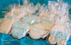 Gifts for those who come see the baby! Its a boy cookies, cookies, gift ideas for baby showers, boy baby showers