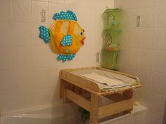 Table à langer de baignoire