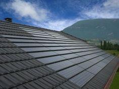Les tuiles photovoltaïques s'intègrent parfaitement à la toiture