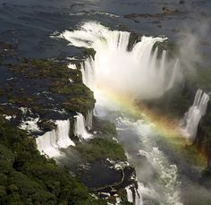 Iguazu Falls, Brazil.  Brazil is one of my top places I want to visit. I think from this photo its apparent why.