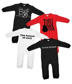 rocker baby boy clothes | ... Baby Rocks: Punk, Gothic, Rock and Funky Baby, Toddler & Kids Clothes