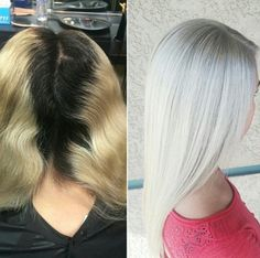 *WHITE-OUT Blonde.. Formulas & SBS on behindthechair.com... thanks to @sydniiee for sharing her secrets with our BTC members!