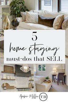 Staging  a  Home  for  Sale: 5 Must-Dos that Sell by Amber Miller of ThresholdHomesMN.com | How to Stage A Home to Sell | #homestaging  #homestagingtips