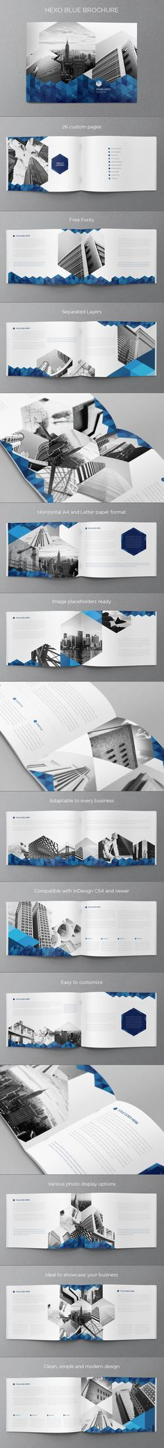 Real Estate Blue Hexo Brochure. Download here: http://graphicriver.net/item/real-estate-blue-hexo-brochure/6446056?ref=abradesign #design #brochure