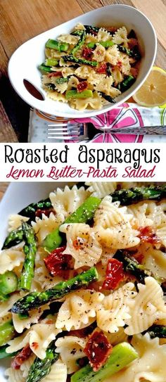 Vegetable Recipes For Kids || Kid Friendly Vegetable Recipes. Roasted Asparagus Lemon Butter Pasta Salad