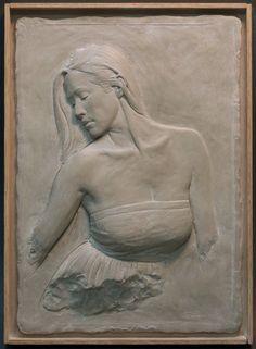 woman bas relief sculpture limited edition by SuttonBettiSculpture